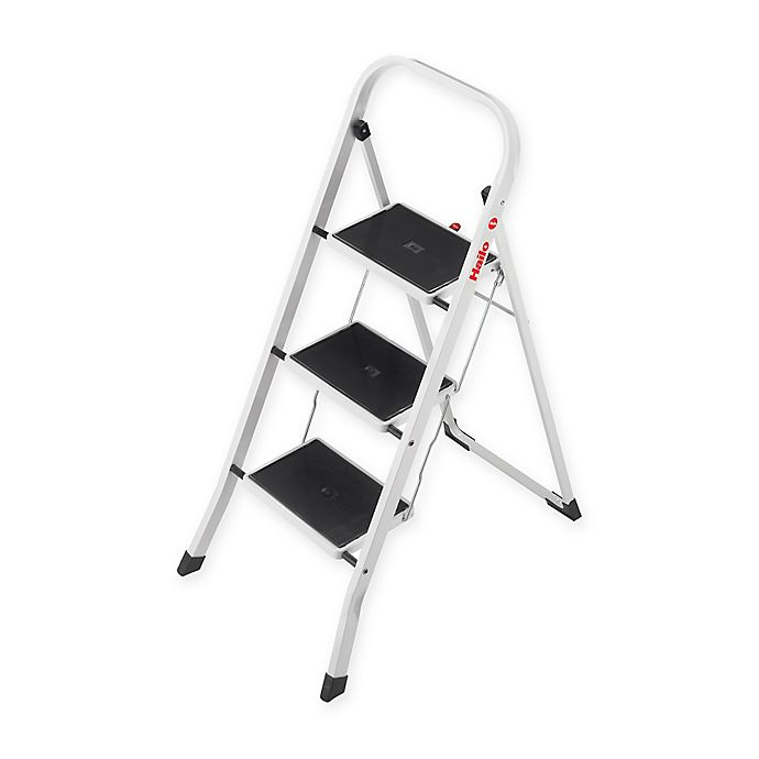 Admirable Hailo 3 Step Steel K20 Step Stool In White Bed Bath Beyond Onthecornerstone Fun Painted Chair Ideas Images Onthecornerstoneorg