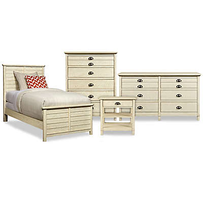Stone & Leigh by Stanley Furniture Driftwood Park Bed Collection in Vanilla Oak