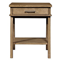 Stone & Leigh™ Chelsea Square Wood 1-Drawer Bedside Table in French Toast