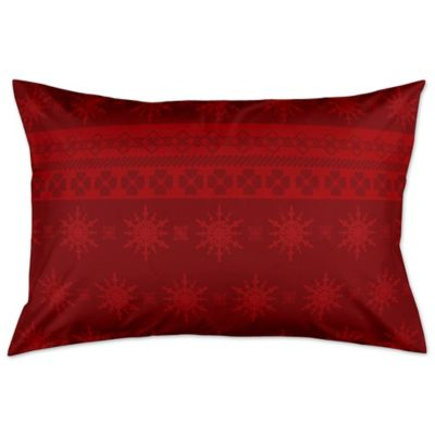 Holiday Snowflakes Pillow Sham In Red Bed Bath Amp Beyond