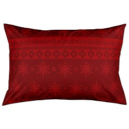 Holiday Snowflakes Pillow Sham in Red