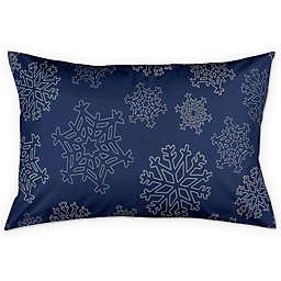 Snowflake Pillow Sham in Blue/Silver