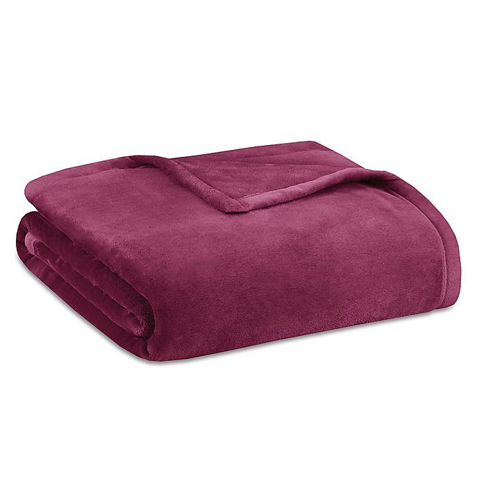 Alternate image 1 for Madison Park Ultra Premium Plush King Blanket in Burgundy