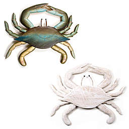 Hand-Carved Wooden Crab Wall Sculpture Collection