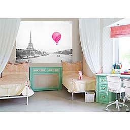 GreenBox Art® Eiffel Tower Balloon Wheatpaste 72-Inch x 54-Inch Mural Wall Art