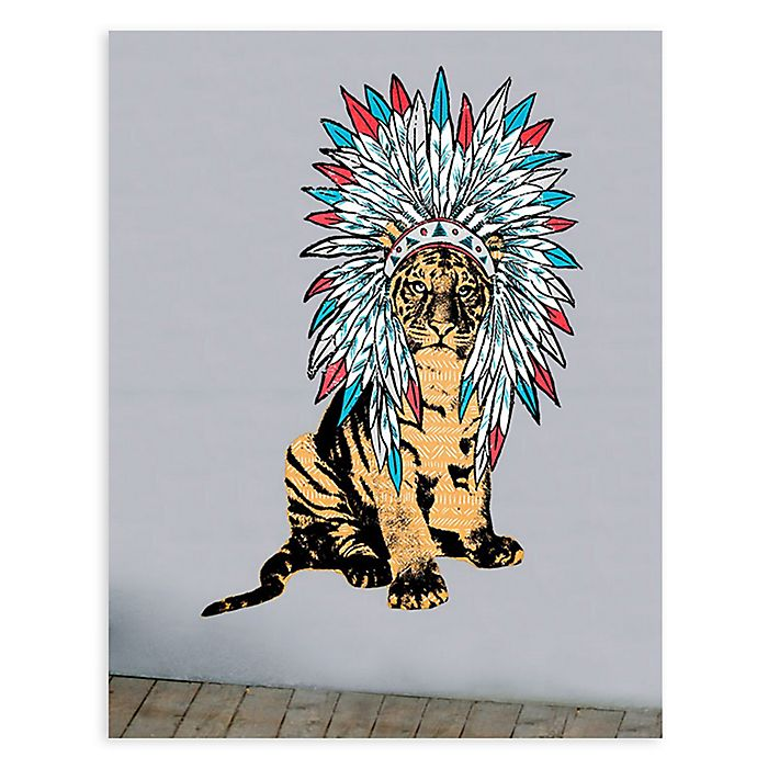 Alternate image 1 for GreenBox Art® Headdress Tiger Wall Art