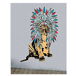 GreenBox Art® Headdress Tiger 30-Inch x 54-Inch Wall Art