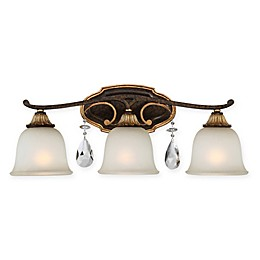 Chateau Nobles 3-Light Bathroom Wall Sconce in Bronze/Gold