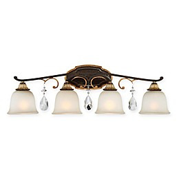 Chateau Nobles 4-Light Bathroom Wall Sconce in Bronze/Gold
