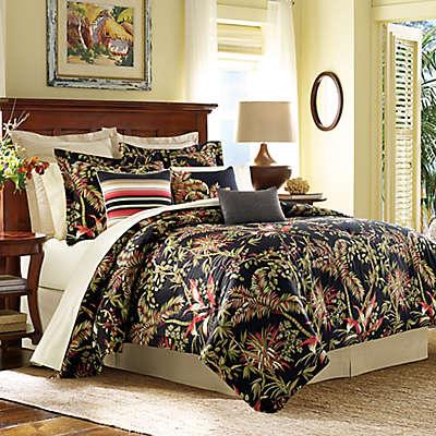 Tommy Bahama® Jungle Drive Comforter Set in Black