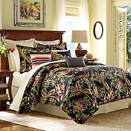 Tommy Bahama Jungle Drive Comforter Set In Black
