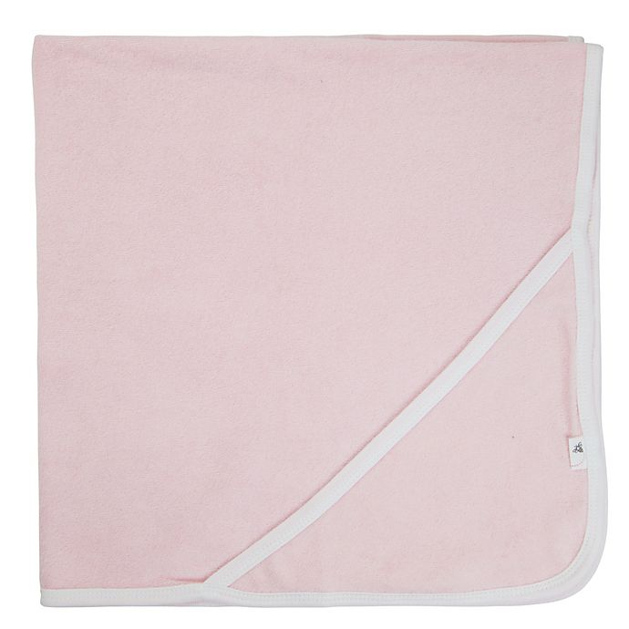 Alternate image 1 for Burt's Bees Baby® Organic Cotton Knit Terry Hooded Towel in Blossom