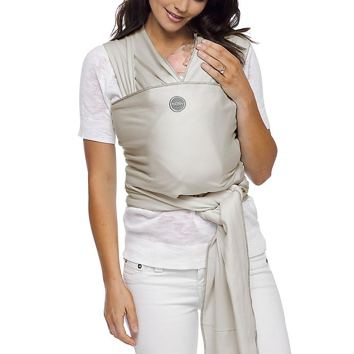 Alternate image 1 for Moby® Wrap Viscose from Bamboo Baby Carrier in Cloud