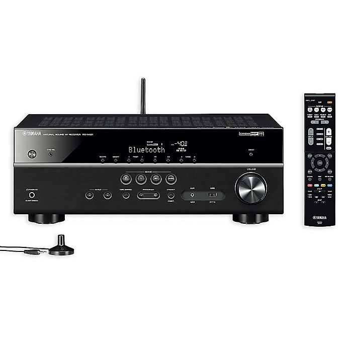 yamaha rx v481 145 watt wireless bluetooth av receiver in black bed bath beyond. Black Bedroom Furniture Sets. Home Design Ideas