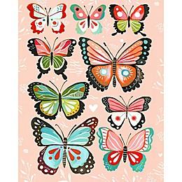 GreenBox Art Pink Butterflies Wheatpaste Poster Wall Art