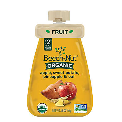 Beech-Nut® Organic Stage 2 Apple, Sweet Potato, Pineapple, and Oat Cold Purée