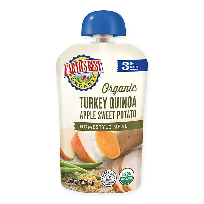 Alternate image 1 for Earth's Best® Stage 3 Organic Turkey Quinoa Apple Sweet Potato Homestyle Pouch