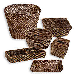 Baum Atlantic Hapao Rattan Bath Ensemble in Brown