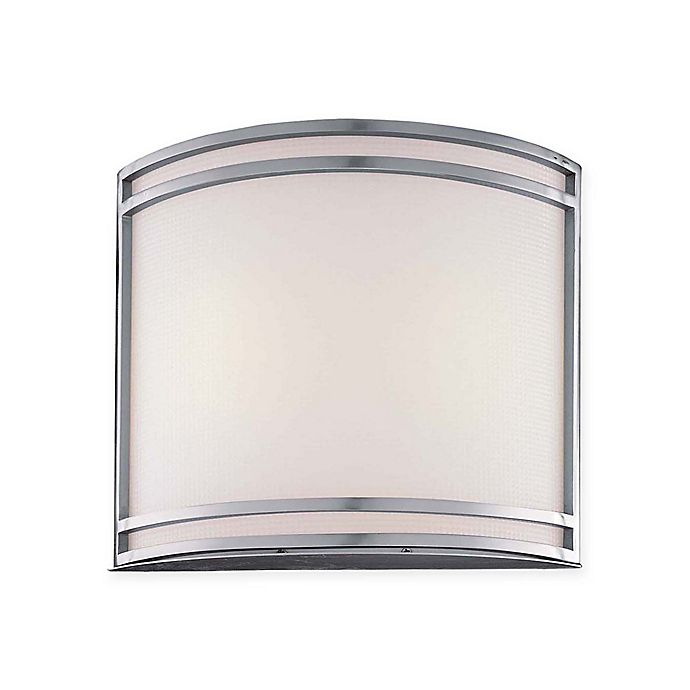 Minka Lavery 2 Light Half Cylinder Wall Sconce In Brushed Nickel