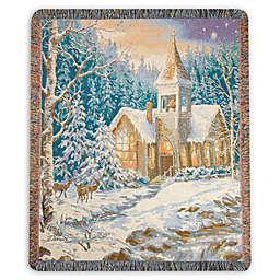 Winter Chapel Throw Blanket