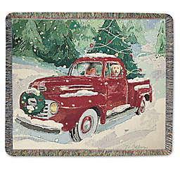 cherry red truck throw blanket - Red Truck Christmas Decor
