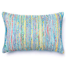 Loloi Multicolored Yarn Ribbed Oblong Throw Pillow