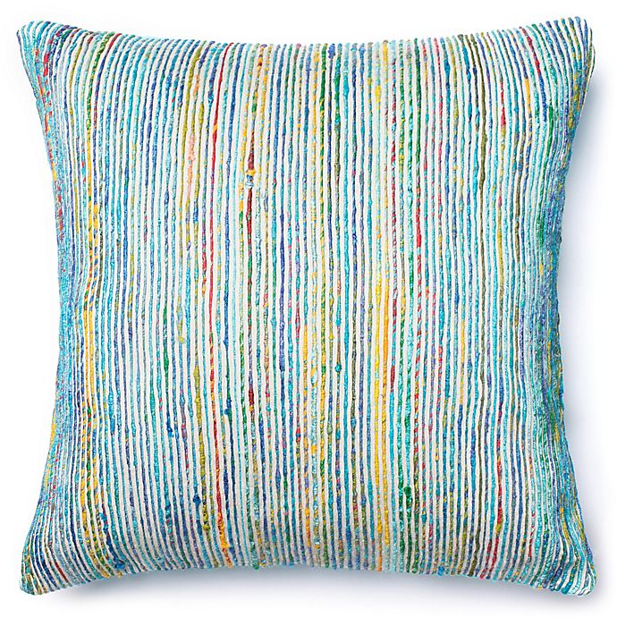 Alternate image 1 for Loloi Multicolored Yarn Ribbed 22-Inch Square Throw Pillow