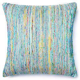 Loloi Multicolored Yarn Ribbed 22-Inch Square Throw Pillow
