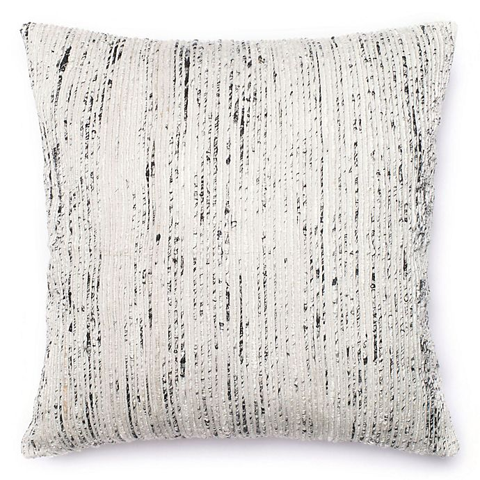 Alternate image 1 for Loloi Multicolored Yarn Ribbed 22-Inch Square Throw Pillow in Silver