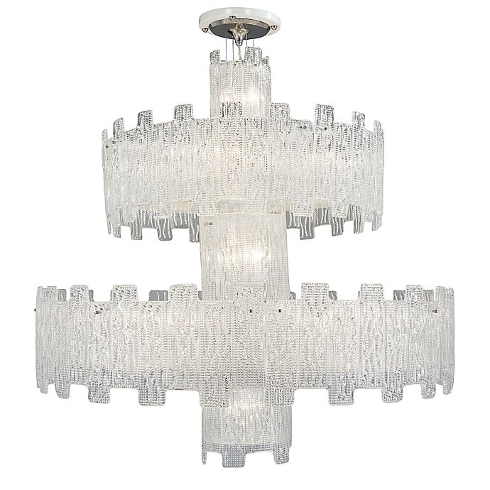 Alternate image 1 for Metropolitan® 2-Tier 25-Light Grand Chandelier in Crystal