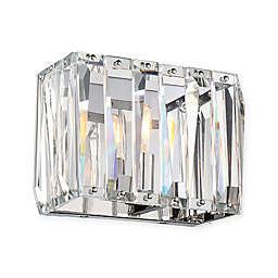 Metropolitan® Coronette 1-Light Bath Wall Sconce in Chrome with Crystals
