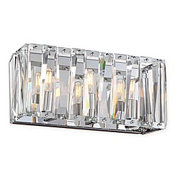 Metropolitan® Coronette 3-Light Bath Wall Sconce in Chrome with Crystals