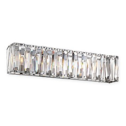 Metropolitan® Coronette 6-Light Bath Wall Sconce in Chrome with Crystals