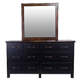 Panama Jack® Big Sur 6-Drawer Dresser and Mirror in Brown