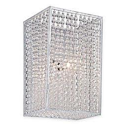 Metropolitan Lighting Saybrook 1-Light Vanity in Catalina Silver with Glass Beads