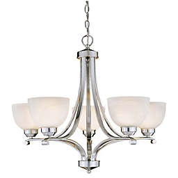 Minka Lavery Paradox 5-Light Ceiling Mount Chandelier in Brushed Nickel