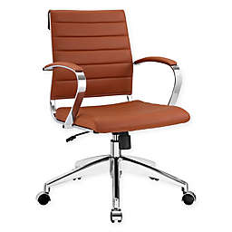 Modway Jive Mid-Back Office Chair in Terracotta