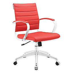 Modway Jive Mid-Back Office Chair in Red