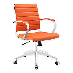 Modway Jive Mid-Back Office Chair in Orange