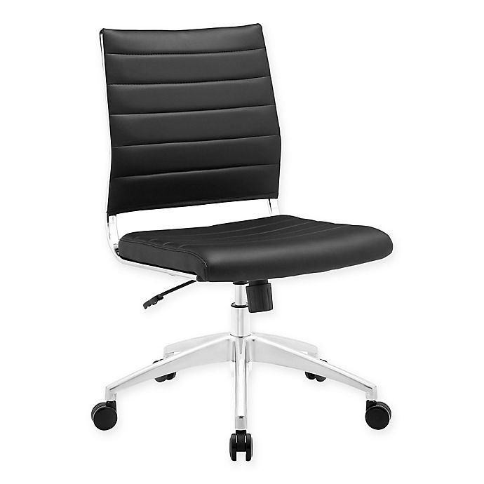 Alternate image 1 for Modway Jive Mid-Back Armless Office Chair in Black