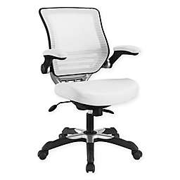 Modway Edge Vinyl Office Chair in White