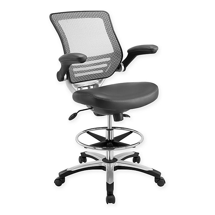 Alternate image 1 for Modway Edge Drafting Chair in Grey