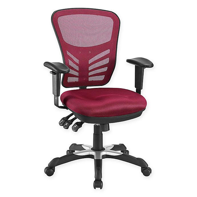 Alternate image 1 for Modway Articulate Mesh Office Chair in Red