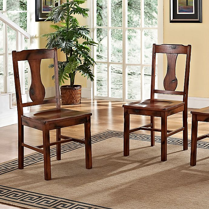 Alternate image 1 for Forest Gate Athena Farmhouse Wood Dining Chairs (Set of 2)