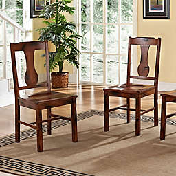Forest Gate Athena Farmhouse Wood Dining Chairs (Set of 2)