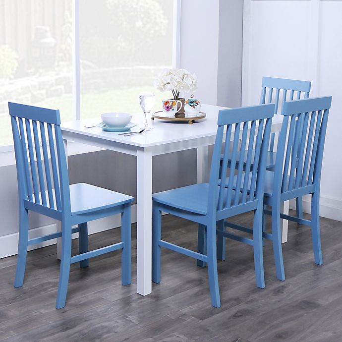 Alternate image 1 for Forest Gate 5-Piece Liam Modern Wood Dining Set in Powder Blue