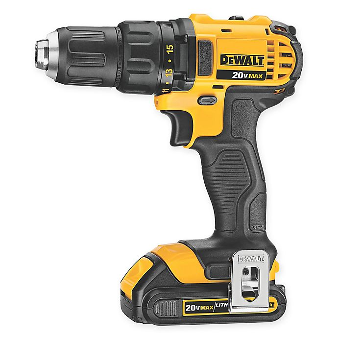 Alternate image 1 for DeWalt 20-Volt 1.5 Ah Compact Drill/Driver Kit