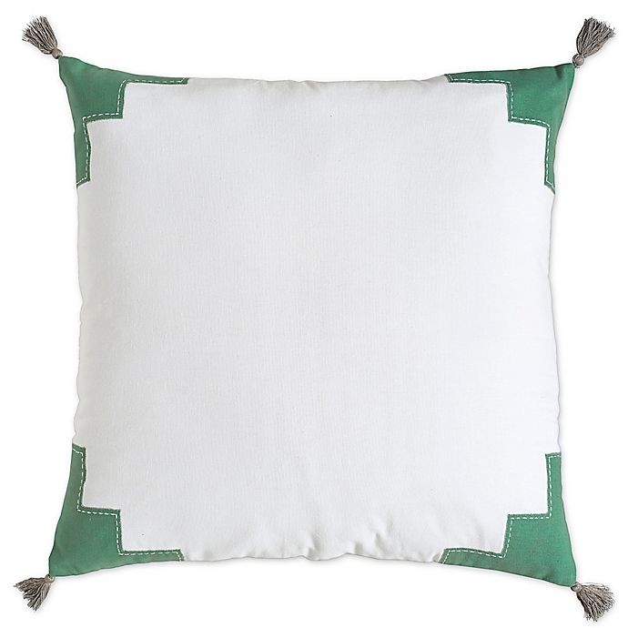 Alternate image 1 for Amy Sia Artisan European Pillow Sham in White/Green