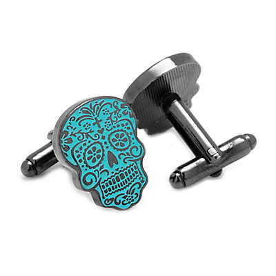 Glow in the Dark Day of the Dead Cufflinks