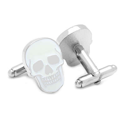 Glow in the Dark Skull Cufflinks